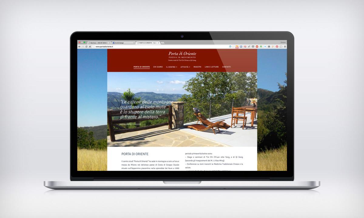Porta di oriente web design